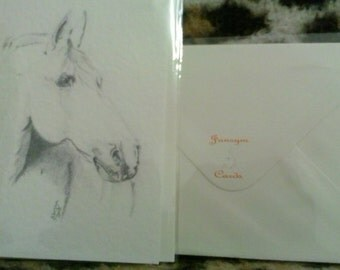 Equine Art greetings card
