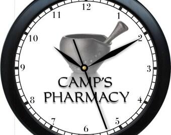 "Pharmacy 10"" Personalized Wall Clock"