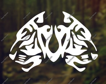 Tiger Vinyl Decal - Tiger Decal - Tiger Car Decal - Tiger Wall Decal - Tiger Wall Art - Tiger Vinyl Sticker - Tiger Laptop Decal - Tiger Art