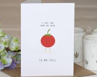 Birthday Card Food Puns ~ Biggest fan pun card biggest fan card birthday card