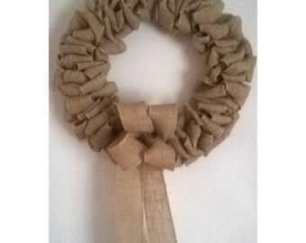 Hessian /Burlap Fabric Wreath