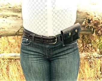 Leather Smartphone Belt Wallet