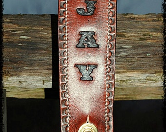 BadAss Custom Guitar Strap - Personalized Name & Plain Scallop Edge