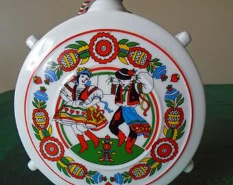 vintage Hungarian ceramic decanter