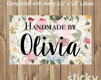 Printable Personalized Handmade Label