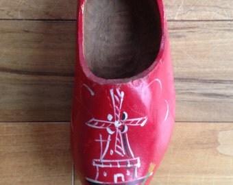 Child size wooden Dutch shoe