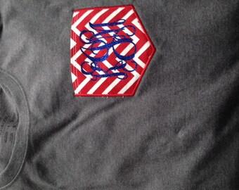 Long Sleeve Monogram Pocket T-shirt