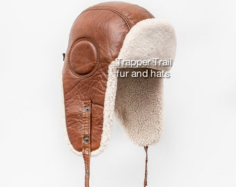 MEN AVIATOR HAT with sheepskin