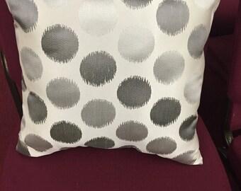 Grey Dots Decorative Pillow