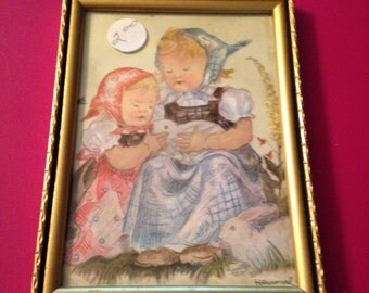 Lovely little vintage picture made in Germany.
