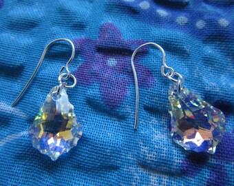 Elegant silver earings