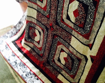 Black White and Red All Over - Modern Quilt Design