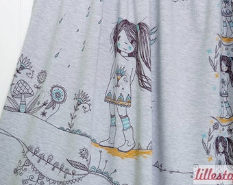 Manga Girls Jersey Fabric Panel Jersey knit Fabric UK Seller