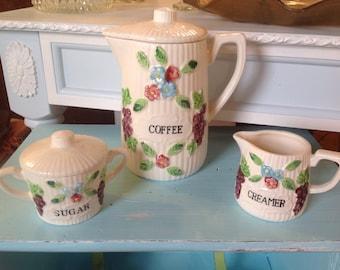 3 pc vintage coffee set