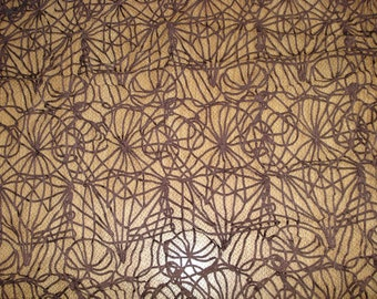 Interlaced with passementerie tulle fabric