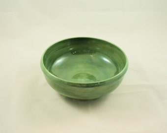 Green Stoneware Serving Bowl