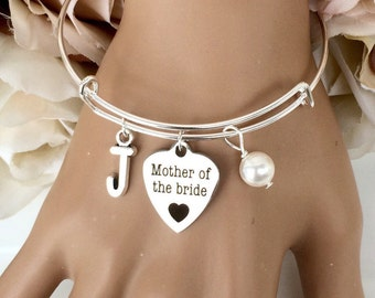 Mother of the bride gift, mother of the bride bracelet, personalises mother of the bride bangle, wedding jewellery, jewelry