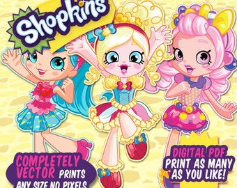 Shoppie Character Life Size Print Digital File