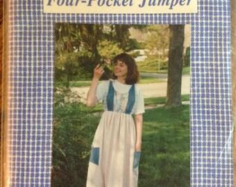 Period Clothing Pattern Four Pocket Jumper Women's Misses Uncut Unused