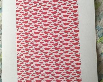 Valentine hearts laber stickers