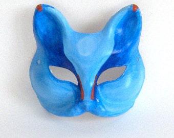 Ocean Blue Fox Mask - SALE