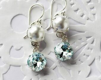 Swarovski light azore crystal earrings