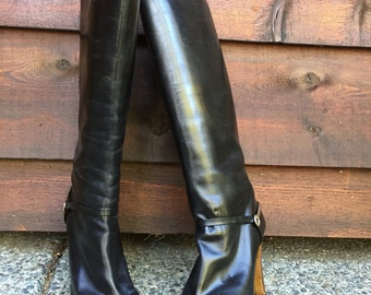 Vintage 80's Riding boots with Spurs