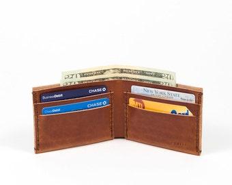 058 Bifold - Leather Wallet - Chestnut