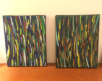Lines Abstract Acrylic Paintings