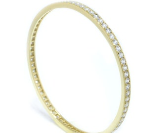 925 Sterling Silver Eternity Bangle Bracelet (S194)
