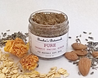 PURE Organic Face Scrub | Organic Facial Scrub