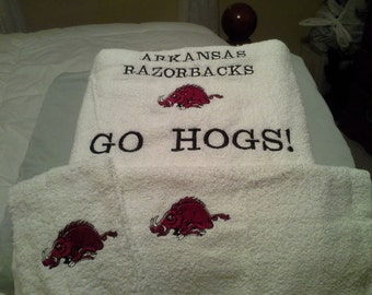 Arkansas Razorback (Hog) Towel Set