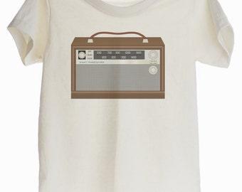 Vintage Radio Organic T-shirt for Kids