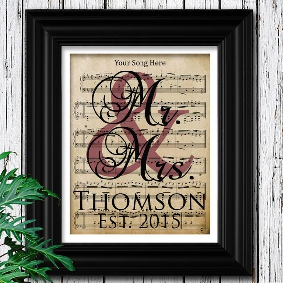 8 Year Wedding Anniversary Gift For Him: Items Similar To YOUR WEDDING SONG