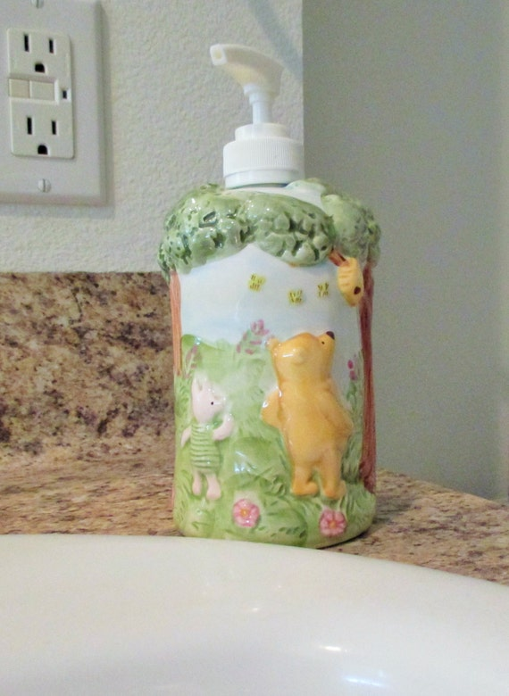 Vintage Disney Winnie the Pooh Soap or Lotion Dispenser. Disney Winnie the Pooh Soap or Lotion Dispenser