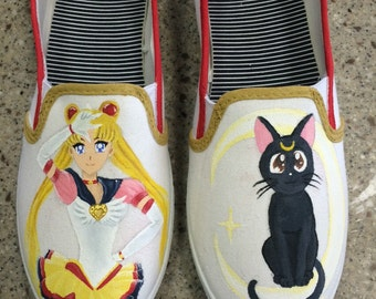 Custom Hand Painted Sailor Moon Shoes