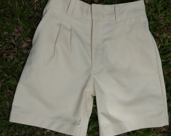 Boy's Shorts -Organic Twill. Natural