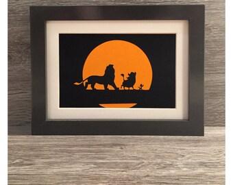 The Lion King framed papercut