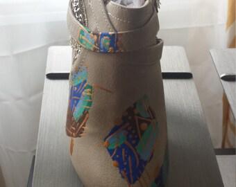 Swanky Lady Cream shoes NA 1