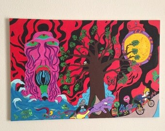 Trippy Canvas Paintings