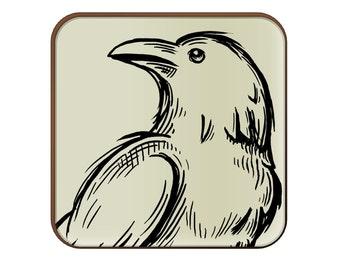 Raven Sketch coaster