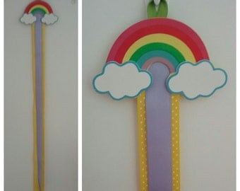 Rainbow hair clip and bow holders