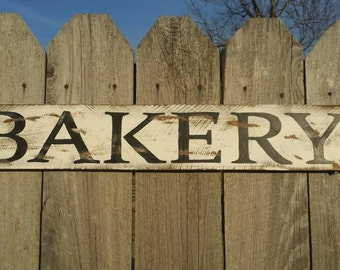 Bakery Rustic Farmhouse Wall Art, Wood Sign Farmhouse Kitchen Sign