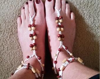 wrap barefoot sandals