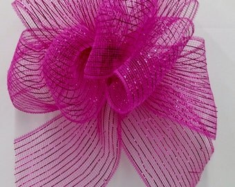 Fuchsia Mesh Bow
