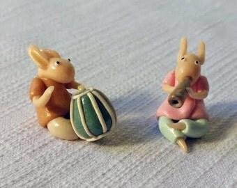 Shanti trolls-musicians - polymer clay toys
