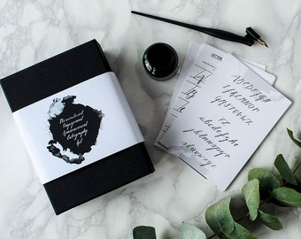 Personalised Engagement Announcement Calligraphy Kit
