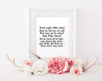 Miss Clavel Madeline Poem Instant Download Print. Typography Print. Nursery Decor. Madeline Print. Nursery Print. Childrens Print