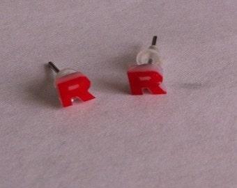 Pokemon Team Rocket stud earrings