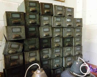 Industrial Metal Factory Drawers Upcycling Material/Salvage